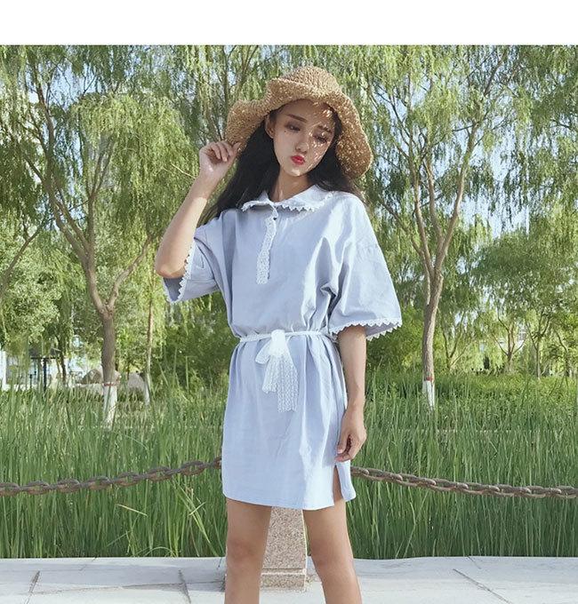 半袖ワンピース 体型ワンピース レディース 半袖 女性用  大きいサイズ カジュアル 無地 ドレス 春夏 おしゃれ 韓国ファッション シンプル ロング丈 清新上品な素材 ドレス 可愛い