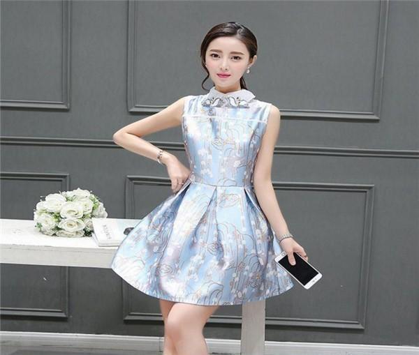 レディースワンピース 韓国無地 スリム 韓国のファッション  ノースリーブワンピース 上品 ロングスカート  ハイウエストワンピース  プリントワンピース  ハイセンス 着心地いい おしゃれ 夏 スリ