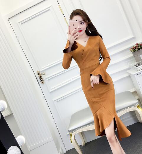 2018 秋冬韓国ファッションパーティードレス★高品質ドレス★ 大人気ワンピース / パーティードレス /ワンピース