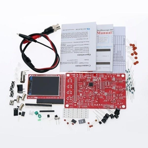 """プロフェッショナルDSO138 2.4 """"TFTハンドヘルドポケットサイズデジタルオシロスコープキットDIY部品電子リア"""