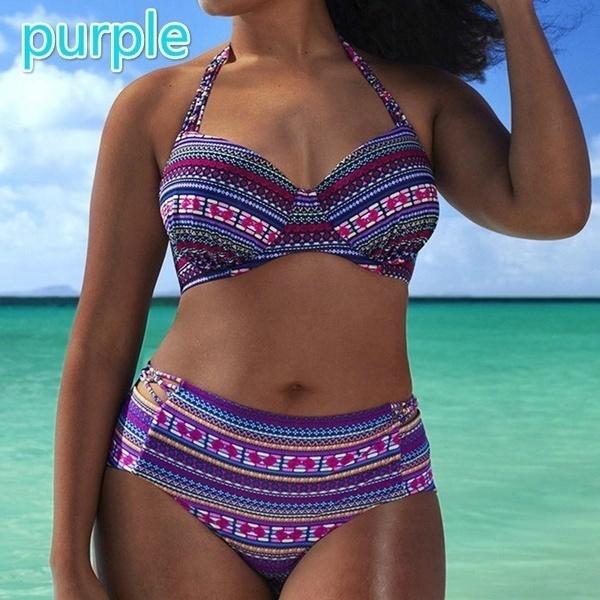 女性の夏のドット2ピースビキニセットプラスサイズの水着水着水着Tankini