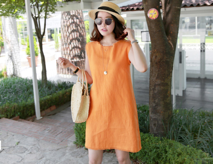 Miamasvin(ミアマスビン)カットオフシンプルミニワンピース【7/28up_wo】【送料無料】韓国 韓国ファッション カットオフ ワンピ