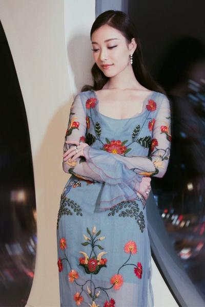 イブニングドレス刺繍入りドレスロングドレス