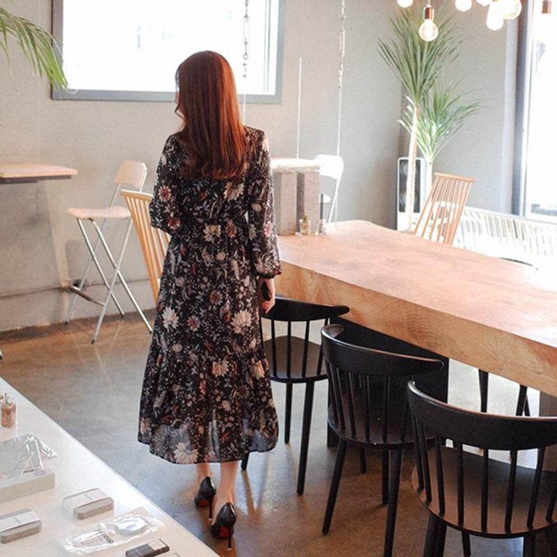 無料配送[CHERRYVILLE]★韓国ファッション★女性ファッション★高級なフラワーパターン腰バンディングワンピース★デートファッション★推薦デーリー・ウェア