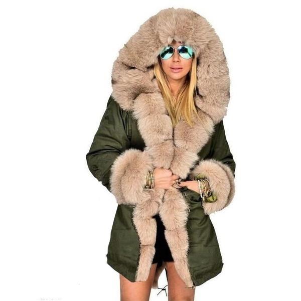 女性のパーカーカジュアルアウトウェアフード付きコートファーコートマンタウフェム女性服プラスサイズ