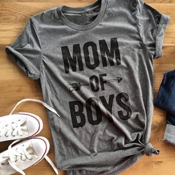 夏ファッションママボス聖書プリントTシャツ女性ショーツティースリーブ女性レディースグレーTシャツ