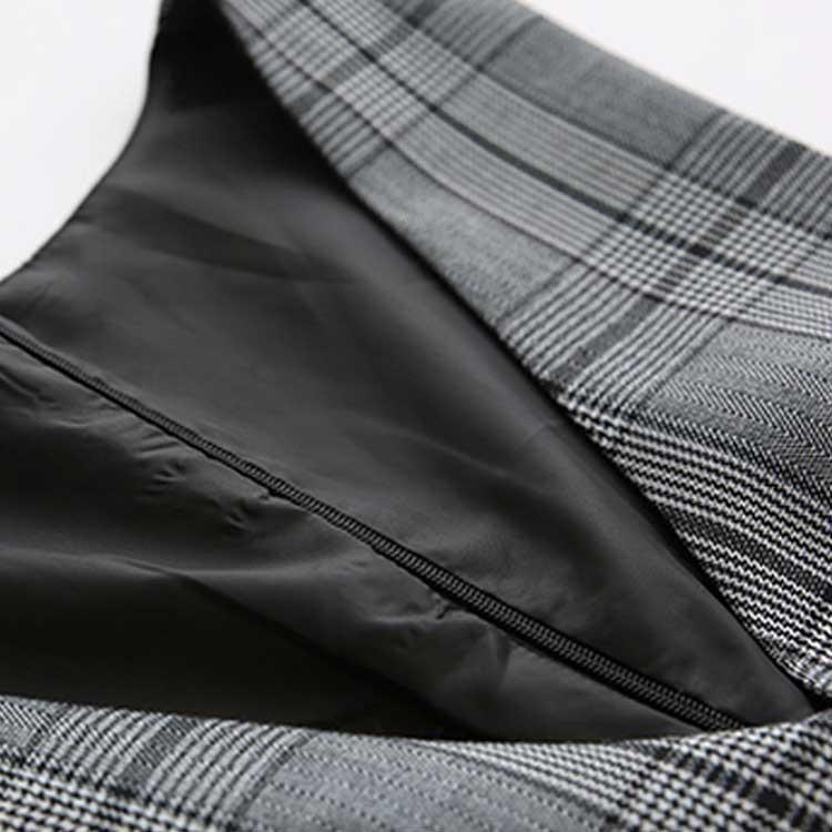 フォーマル ワンピース シャツ+チェック柄ワンピース 2点セット エレガント ワンピース ドレス パーティー お呼ばれ レディース