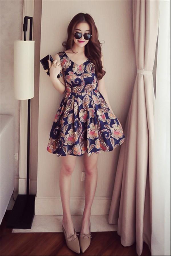 レディースワンピース 韓国無地 スリム 韓国のファッション 上品  学院? ノースリーブワンピース プリントワンピース  ハイセンス 着心地いい おしゃれ 夏 スリム セール★ レディースワンピース