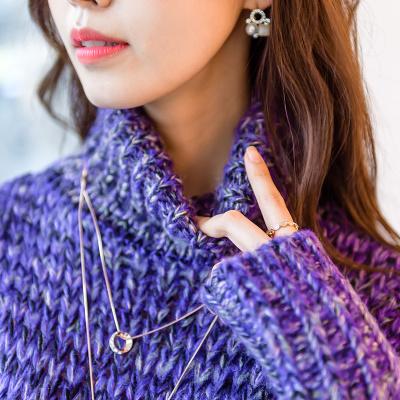 2017秋と冬は新しい女性の韓国人の長袖ニットドレスのタートルネックのセーターをインストール  冬服  957