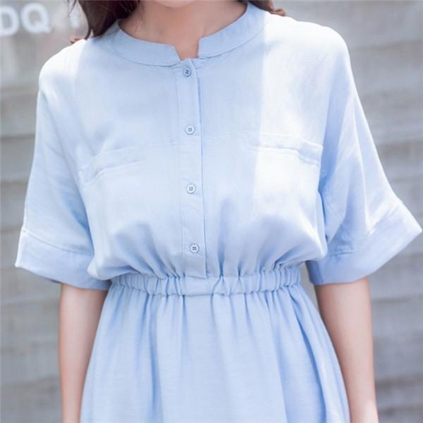 レディースワンピース 韓国無地ワンピース スリムワンピース プリントワンピース 麻綿ファッション ハイセンス 着心地いい おしゃれ 夏 スリム セール★ レディースワンピース