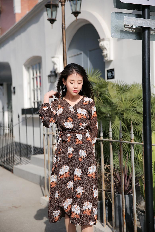 韓国のファッション、ワンピース/花柄