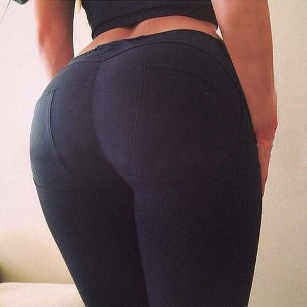 女性セクシーなバークハイウエストペンシルパンツはレギンスをプッシュアップ高品質のズボン弾性フレディジーンズ