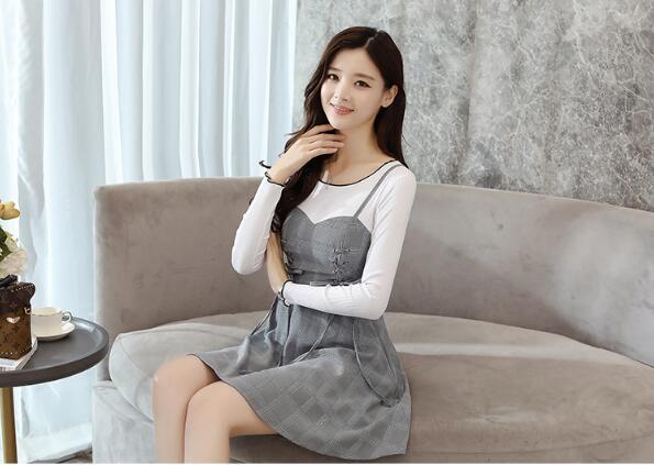 [55555SHOP]韓国ファッション 冬シーズン ニットワンピース /ワンピース//ニットセーター
