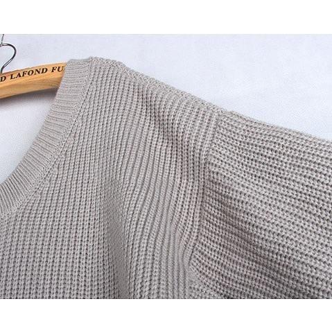 レディース ファッション かわいい 長袖 セーター セータードレス プルオーバー カジュアル シンプル フリーサイズ 大人 エレガント デート お出かけ 外出 旅行 秋 冬 グレー 送料無料