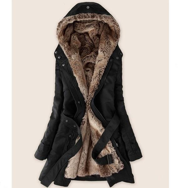 ファッション女性ウィンターコートレディースアウトレットファージャケットパーカートップス(XS-XXL)