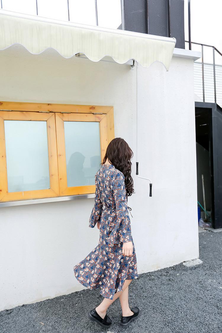 レディース 新作 ワンピース ドレス シフォン リボン 砂浜 花柄 ロング