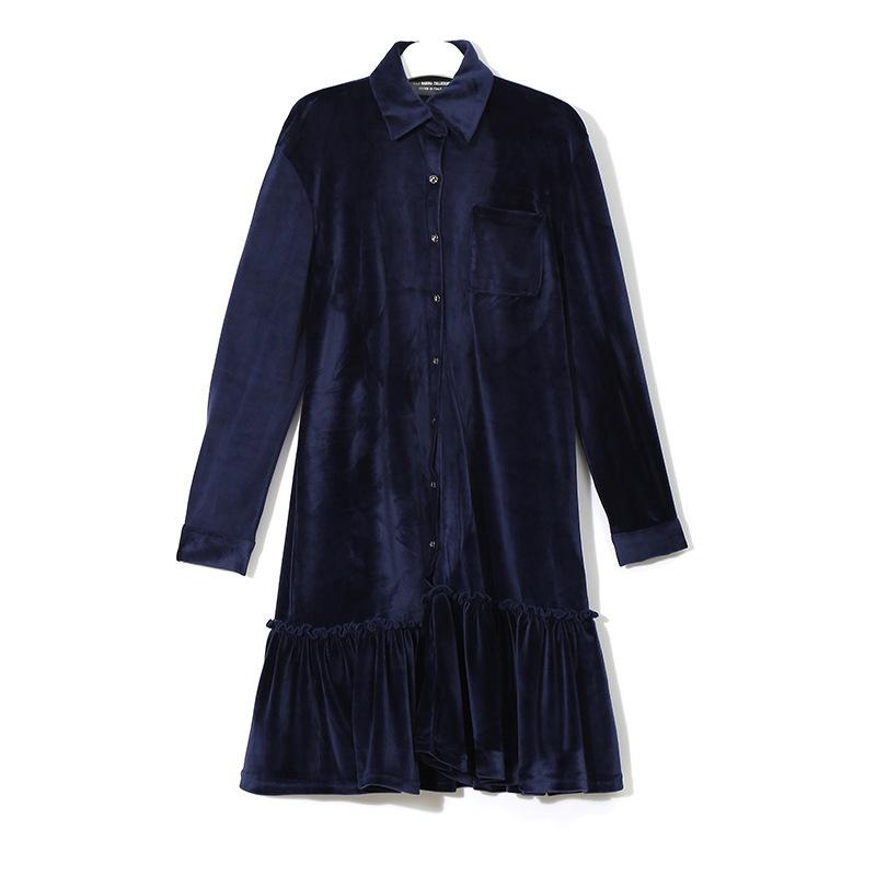 2018新品 初春  ファッション レディース シャツワンピ  ワンピース 欧米風  可愛い上質  X-AT118521