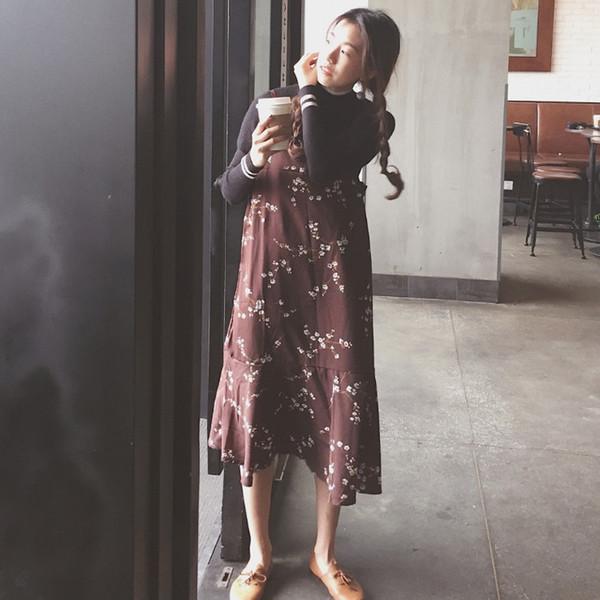 【送料無料】レディース ワンピース シフォンドレス  花柄 ホワイト ブラウン ファッション 2017 新作