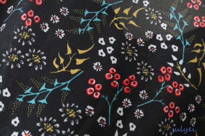 欧米風 花柄ワンピース 蝶結び 大人っぽく着こなす 長袖ワンピース 2018春装新品 ミニワンピース かわいい