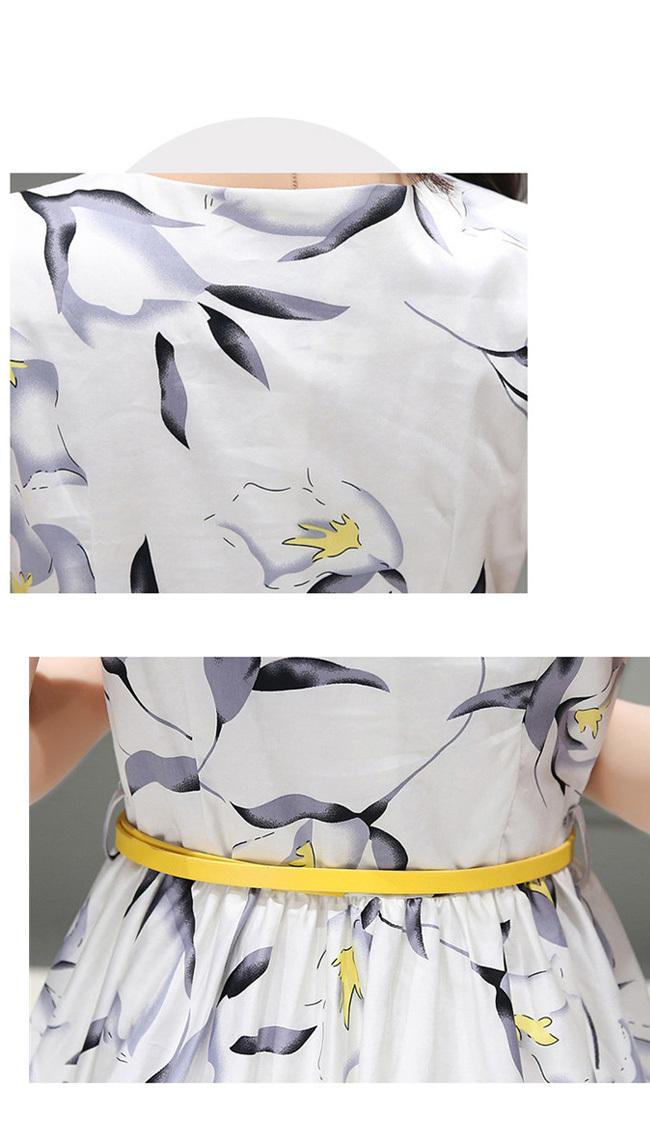 ☀夏新作☀【AYA】シフォン プリント柄 ワンピース エンパイア 台形スカート ロングスカート 着痩せ スリム 通勤 ♥韓国ファッション ★ 女性らしい、一枚でお洒落♪