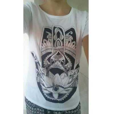 夏のスタイルのTシャツ女性の3DハンドプリントTシャツファッションパンクのティー女性のファッション服