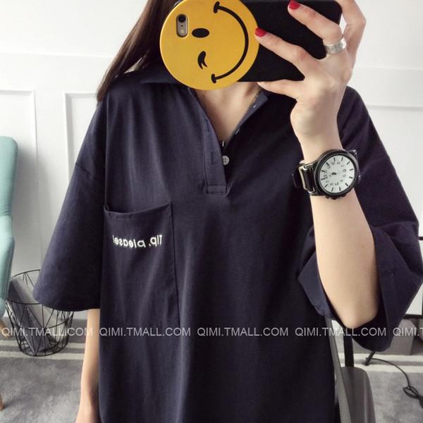 【送料無料】レディース ワンピース Tシャツ 半袖  無地 シンプル  Vネック 五分丈 カットソー ファッション