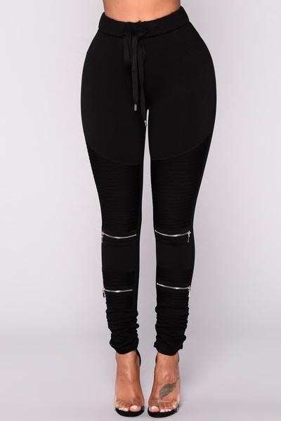 2017秋冬の女性新しいファッションセクシーなスリムレギンス弾性ウエスト薄い脚ジッパーデザインパンツC