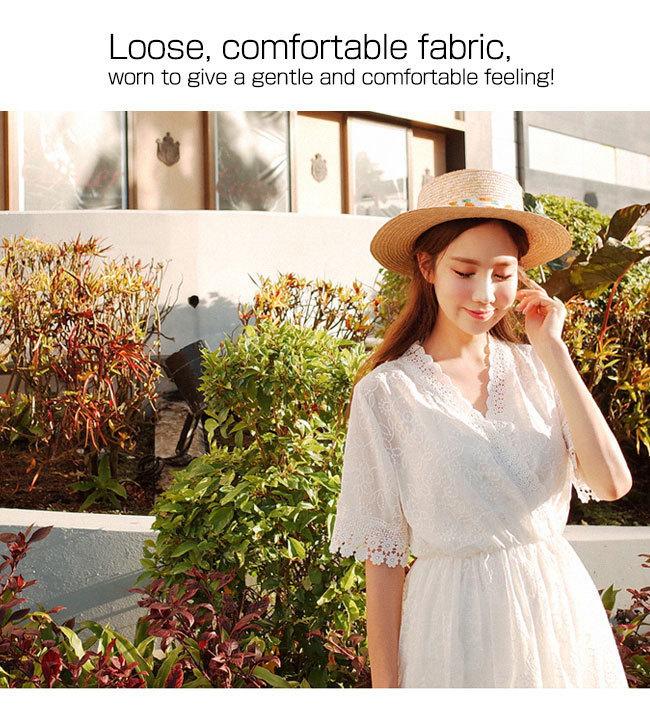 vネック ワンピース スカート 体型カバー女性らしい 韓国ファッション 大人気 マキシ ひざ下 ひざ丈 夏おすすめ!レディース パーティー お出かけ、旅行 ~二次会 ~半袖 無袖 vネック ワンピース