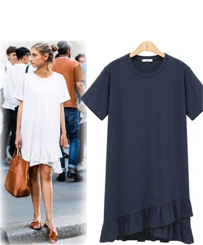 女性 Tシャツワンピース 綿麻 無地 欧米ファッション Tシャツ 大人の女性の必須 シンプル ドルマンスリーブ 短袖  レディース スリム・ライン 着痩せ 夏ファッション ワンピース 大きめ ミニシャ