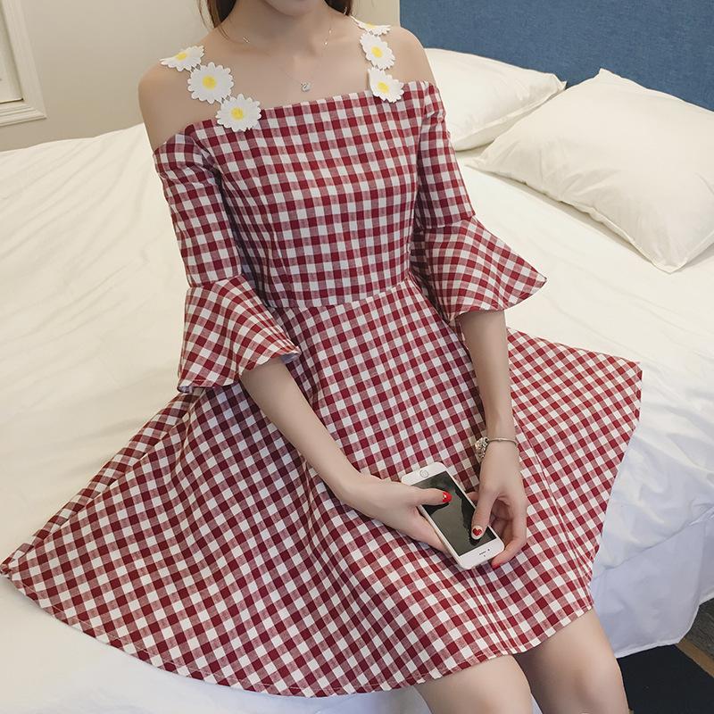 韓国ファッション  森ガール系   ワンピース   レディース  レース  ワンピース 可愛い18N
