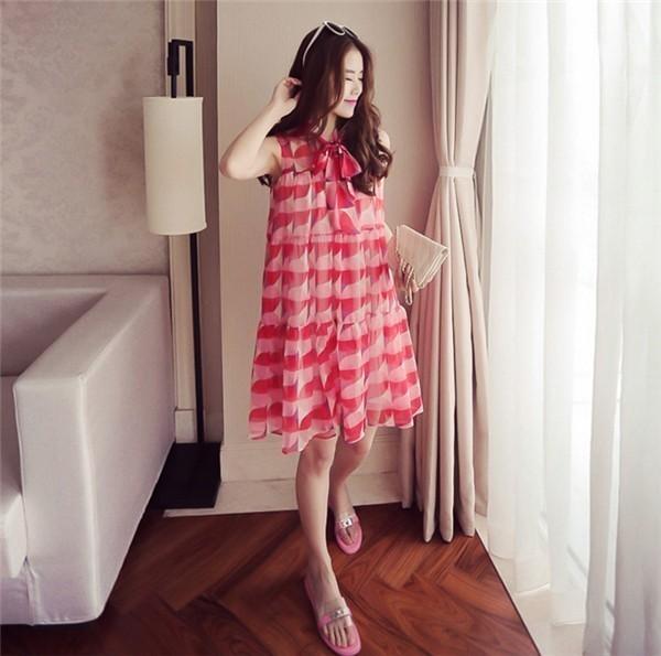 レディースワンピース 韓国無地 スリム 韓国のファッション シフォンノースリーブワンピース   プリントワンピース 上品 ロングスカート ハイセンス 着心地いい おしゃれ 夏 スリム セール★ レディースワンピース