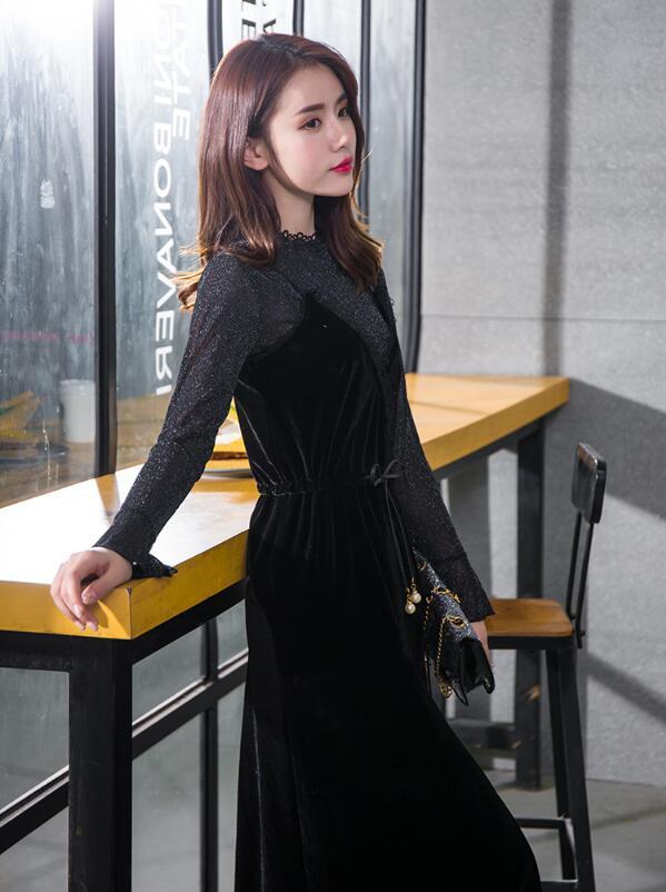 [55555SHOP]エレガンス ワンピース♪ドレス レース ファッション セクシー パーティードレス