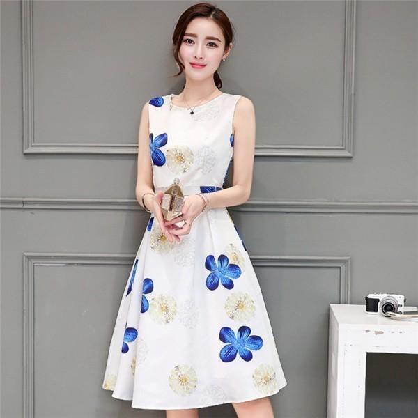 レディースワンピース 韓国無地 スリム 韓国のファッション  ロングスカート ノースリーブワンピース  プリントワンピース  ハイセンス 着心地いい おしゃれ 夏 スリム セール★ レディースワンピース