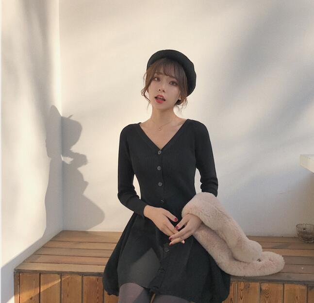 [55555SHOP]韓国ファッション☞の高品質☞ワンピース☞ドレス☞スカート☞長袖ワンピース☞ストリート☞ユルイタイプ☞サマードレス☞つりスカート☞ノースリーブ