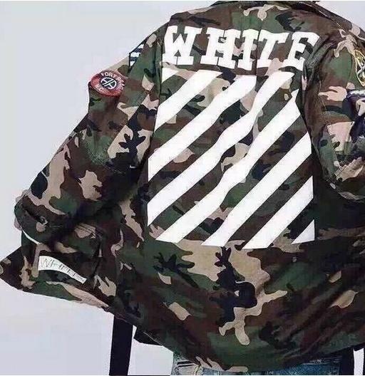 NewfashionメンズレディースファッションメンズユニセックスオーバーサイズBoxyfitオフホワイトカモフラージュミリタリージャケット