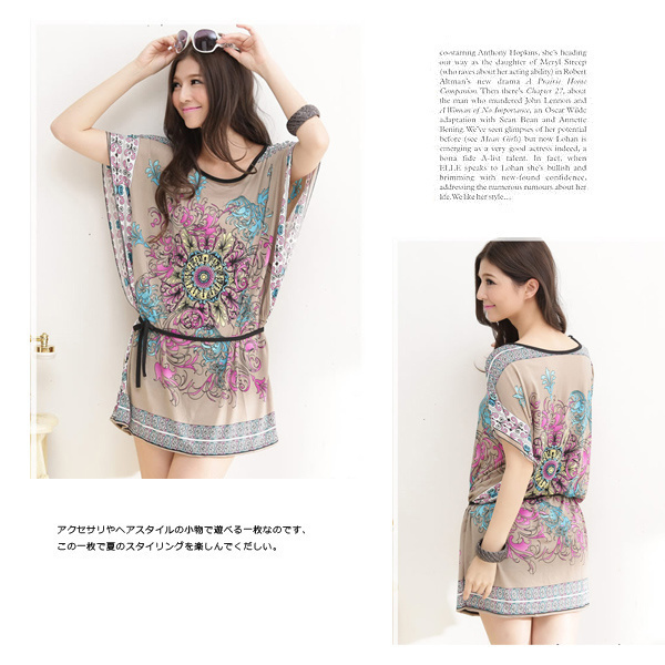 ワンピース Tシャツワンピース Tシャツ ワンピースレディース 半袖 送料無料 フリーサイズ ap056