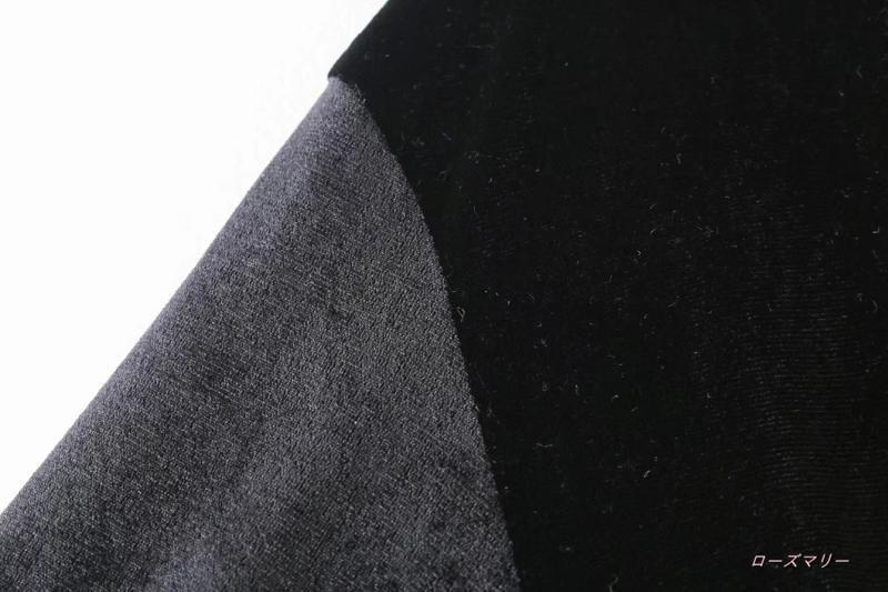 【ローズマリー】欧米を巾式ミニのワンピースのウエスト飾ベルベットリボンがVネック長袖無地の短いスカート ヴィンテージ調 ベーシック 着痩せの効果出る 大人気-QQ2016