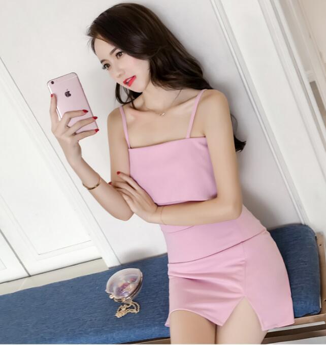 [55555SHOP]韓版小さな風薫る女装胸元セレブな雅修身セクシーベスト、ドレス,タッセルレースワンピース
