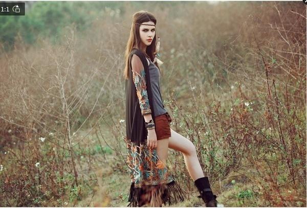 ファッションレディースボホンシフォン着物シャツカーディガンタッセルロングビーチカバートップス(ワンサイズ)(カラー: