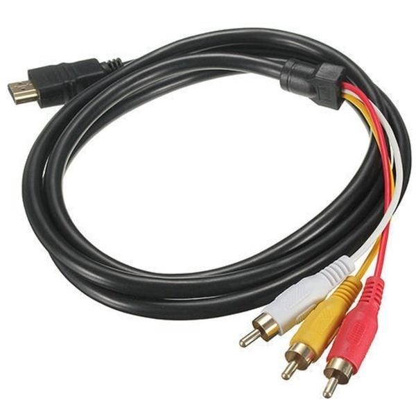 1.5m / 5Ft 1080P HDMIの男性3 RCAのコンポジットビデオとオーディオAVビデオコンバーター
