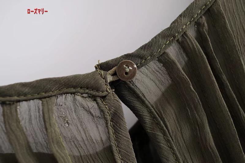 【ローズマリー】クルーネック無地しわ装飾ワンピース女2018春モデルゆったり着やせスカート 長袖ワンピース  フィットスタイル  ベーシック -R546