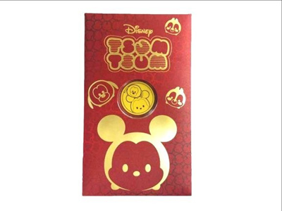 Chow Tai Fook Disney Tsum Tsum 999.9 Pure Gold Coin - Mickey and Pluto R21536