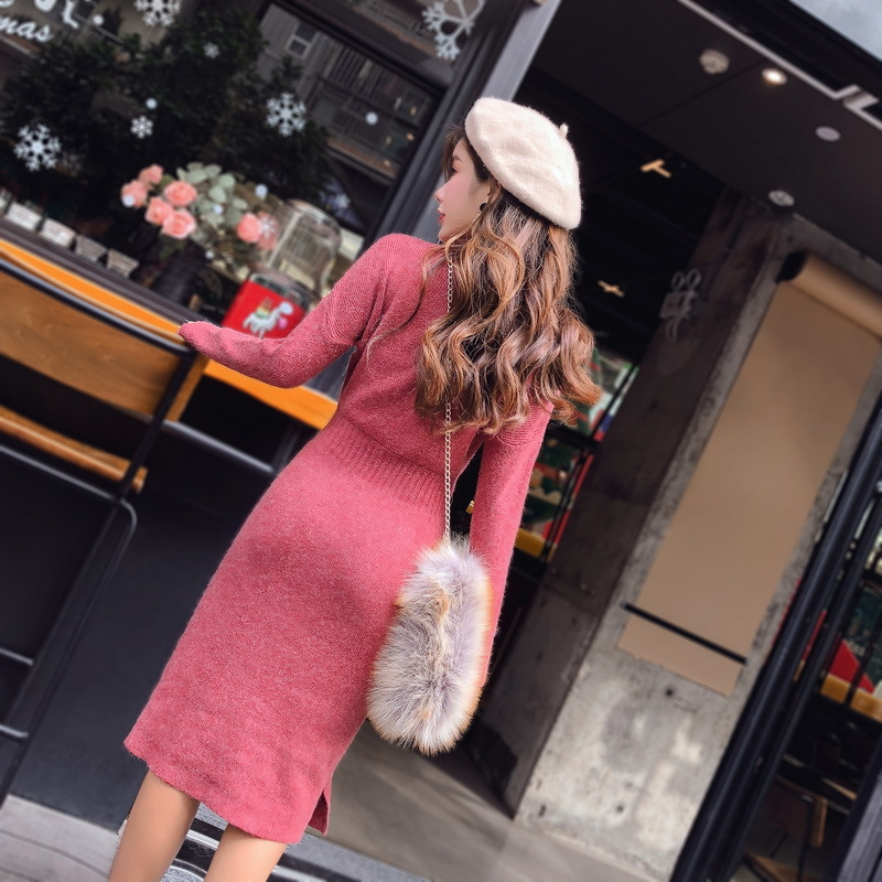 ★韓国ファッション通販業界1位 ★ アンバーポルラニトゥワンピース / おしゃれなシルエットのファッションコーデー提案!ハイクォリティー/韓国ファッション/オフィスルック