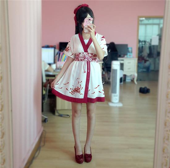 レディース 3点セット カーディガン+吊りスカート+ベルト 可愛い 花柄 浴衣 2way ハロウィン コスプレ コスチューム