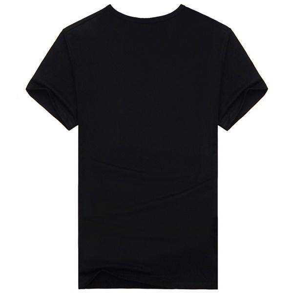 メンズコットンブラックショートスリーブクリエイティブガンパターンデジタルOネック3DプリントTシャツトップス