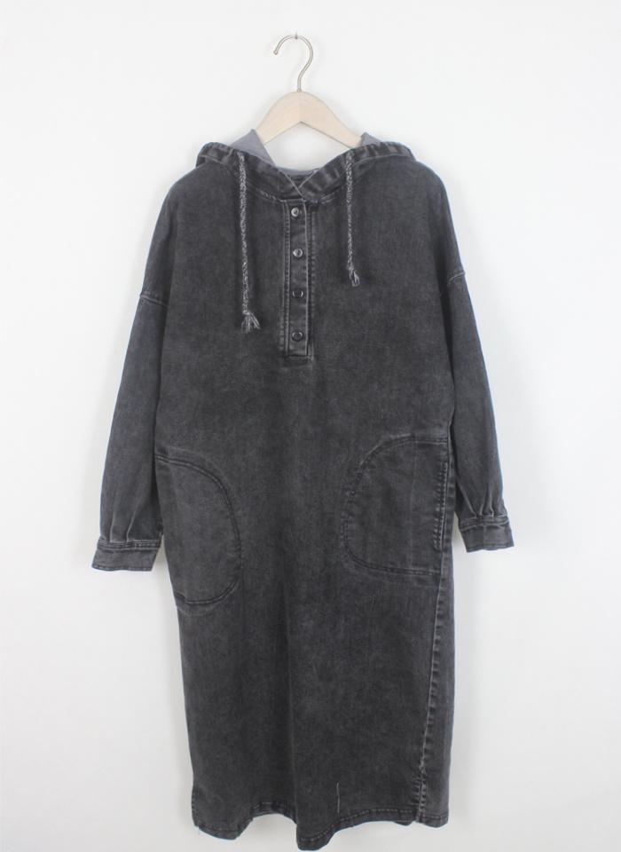 2017新品  韓国ファッション 人気     ワンピース  レディース  長袖  ゆったり感   デニム ワンピース  上質 着痩/  D7041897
