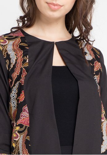 Rianty Batik Blazer Female Blazer Adinda Black RI993AA0WE3TID