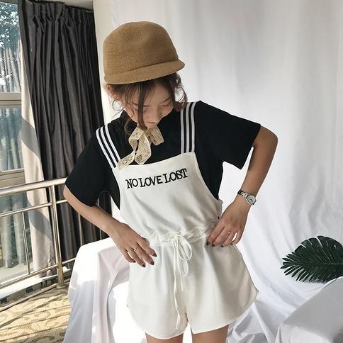 リチャオ2017♪☆品質自信あり☆刺繍 ハングルセレブstyle ワンマイルウェア 連体式  パンツ  7july-ray-6066【ca】ワンピース オールインワン・サロペット