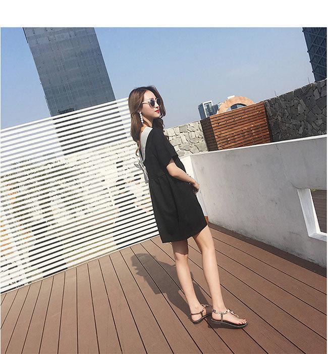 半袖ワンピース レディース 半袖 女性用 体型ワンピース  大きいサイズ カジュアル 無地 ドレス 春夏 おしゃれ 韓国ファッション シンプル ロング丈 清新 着痩せ 高品質 リボン ドレス  可愛い