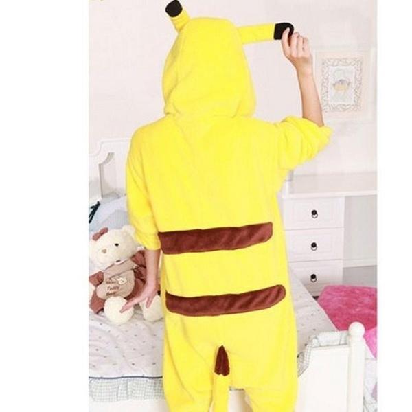 新しいユニセックスピカチュウパジャマポケモンジャンプスーツパジャマパジャマコスプレ衣装